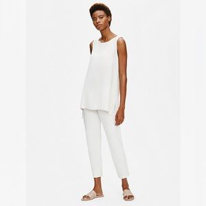 NWT EILEEN FISHER / STRETCH CREPE SLIM ANKLE PANT